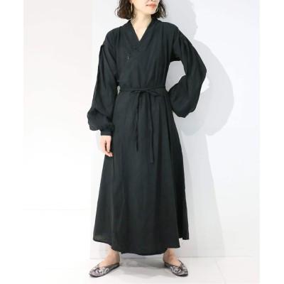 レディース シティショップ 【鄭惠中 x FUJIN TREE x CITYSHOP】CHINESE GOWN DRESS ブラック フリー