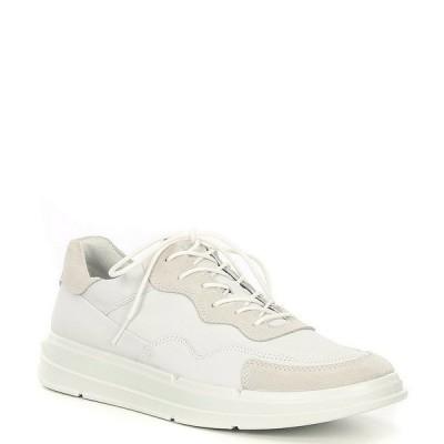 エコー メンズ スニーカー シューズ Men's Soft X Lace-Up Sneakers White