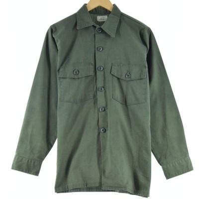 80s 米軍実品 ユーティリティシャツ USA製 メンズM /eaa070534