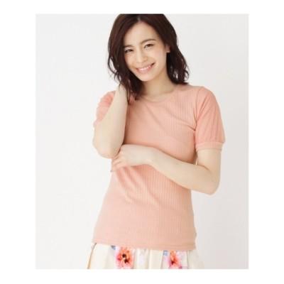 袖ドットチュールトップス (ピンク(072))