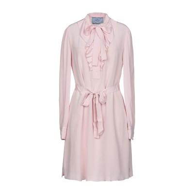 プラダ PRADA ミニワンピース&ドレス ピンク 40 シルク 100% ミニワンピース&ドレス