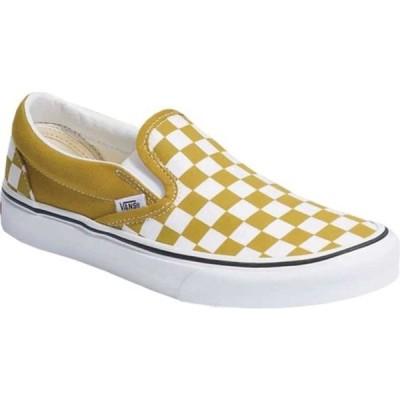 バンズ レディース スニーカー シューズ Slip On Checkerboard Canvas Sneaker Olive Oil/True White
