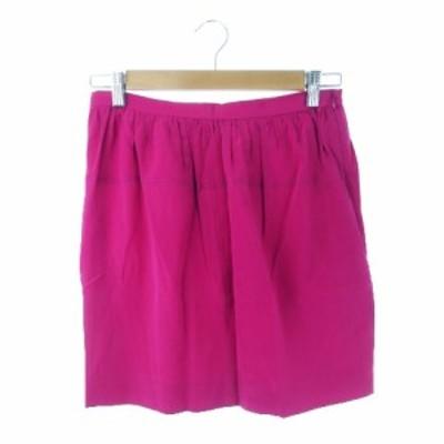 【中古】ドゥロワー Drawer スカート タイト ミニ シルク 絹 36 ピンク /MN19 ☆ レディース
