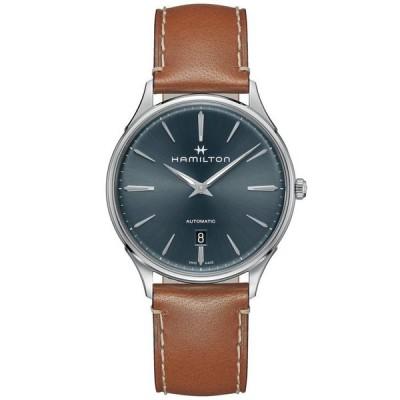 ハミルトン メンズ 腕時計 アクセサリー Men's Swiss Automatic Jazzmaster Thinline Brown Leather Strap Watch 40mm
