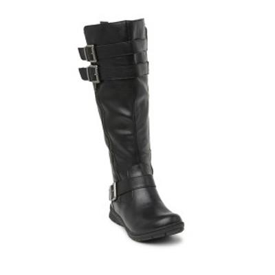 ビー オー シー バイ ボーン レディース ブーツ&レインブーツ シューズ Tycho Strappy Tall Leather Boot BLACK PU