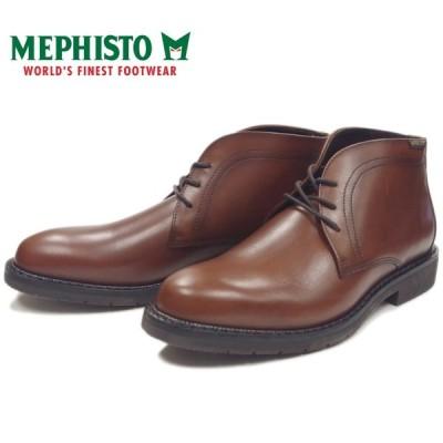 メフィスト ティベリオ MEPHISTO TIBERIO 7378 CHESTNUT チャッカブーツ ビジネスシューズ メンズ 本革 プレーントゥ ブーツ ポルトガル製