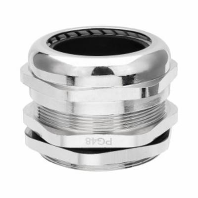 uxcell ケーブルグランド ファスナー コネクター ロックナット モデルPG48 メタル製
