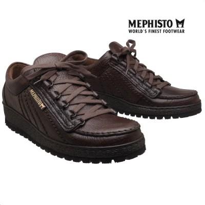メフィスト 正規品 靴 MEPHISTO RAINBOW DARK BROWN スニーカー レースアップ ウォーキングシューズ メンズ 革靴 紳士靴