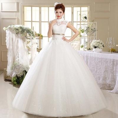 ウエディングドレス カラードレス 安い 可愛い プリンセス ロング ドレス 結婚式 披露宴 パーティードレス ブライダル