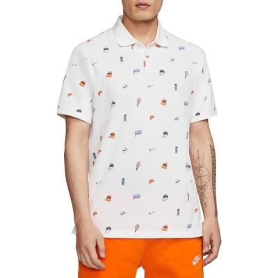 ナイキ NIKE メンズ ポロシャツ トップス Veneer Standard Polo Shirt White