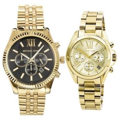 マイケルコース ペアウォッチ クロノグラフ ゴールド MK8286MK5798 腕時計