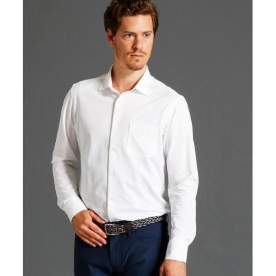 【ムッシュニコル】 ショートセミワイドカラーニットシャツ メンズ 09ホワイト 46(M) MONSIEUR NICOLE