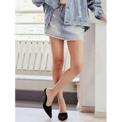 GYDA / デザインダメージスカートライクデニムショーパン WOMEN スカート > デニムスカート