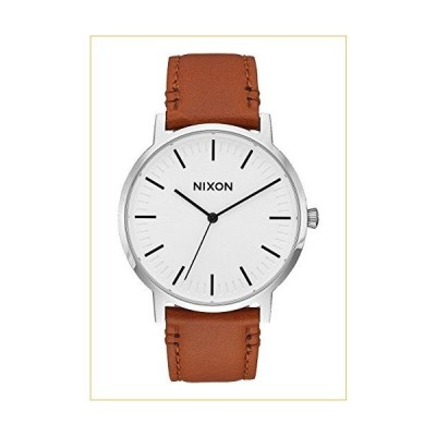 White Sunray/Brown The Porter Leather Watch by Nixon 並行輸入品