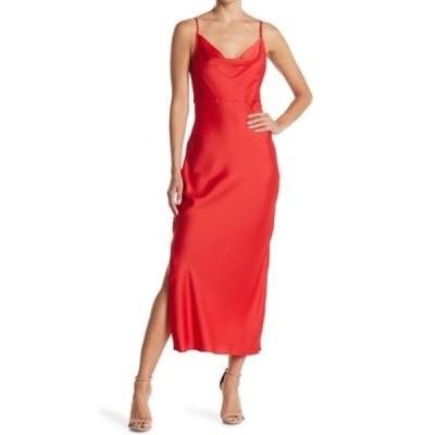 テイラー レディース ワンピース トップス Midi Slip Dress RED