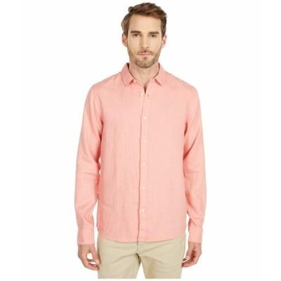スコッチアンドソーダ シャツ トップス メンズ Garment Dyed Linen Shirt Pink Smoke