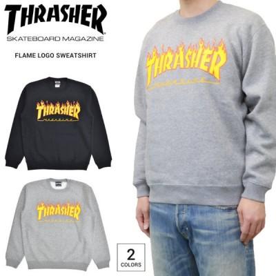 THRASHER スラッシャー トレーナー FLAME LOGO CREW SWEAT クルーネック スウェット フリース フレイムロゴ TH94130
