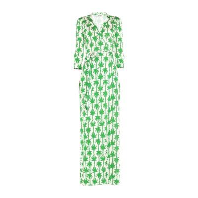 ダイアンフォンファステンバーグ DIANE VON FURSTENBERG ロングワンピース&ドレス グリーン 8 シルク 100% ロングワンピー