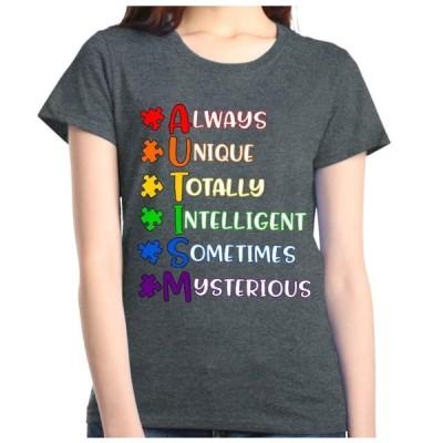 レディース 衣類 トップス Shop4Ever Women's Always Unique Autism Awareness Graphic T-Shirt グラフィックティー