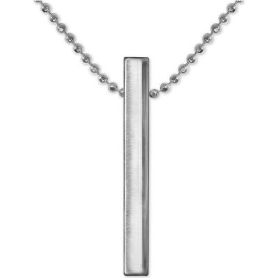 """アレックス ウー Alex Woo ユニセックス ネックレス Polished Vertical Bar 16"""" Pendant Necklace in Sterling Silver Sterling Silver"""