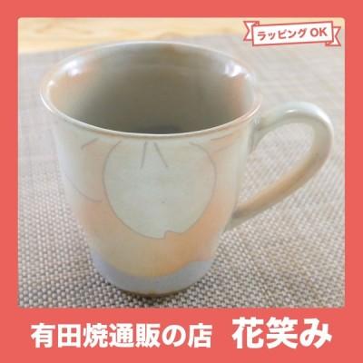 マグカップ 美濃焼 御本手桜 花柄 土物 和食器 陶器 三階菱