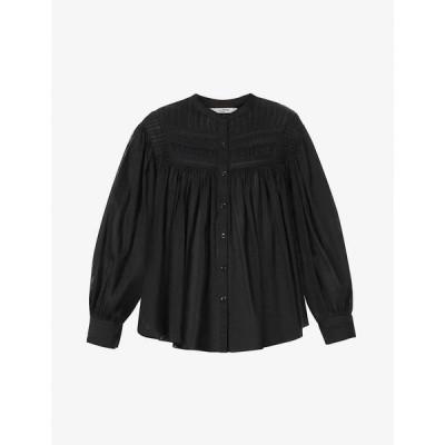 イザベル マラン ISABEL MARANT ETOILE レディース ブラウス・シャツ トップス Plalia pin-tucked semi-sheer cotton shirt BLACK