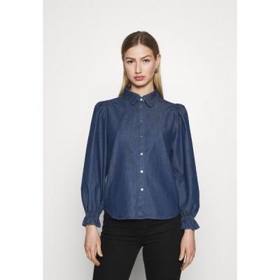 オンリー シャツ レディース トップス ONLFIFI - Button-down blouse - dark blue denim