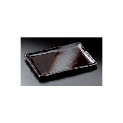 和食器 / 焼物皿 備前灰釉9.0長角皿 寸法:24 x 17 x 1.5cm