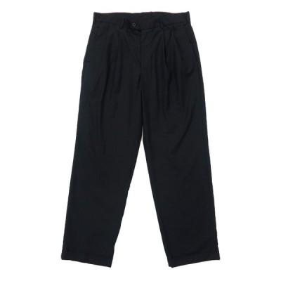スラックス パンツ ツータック ブラック サイズ表記:W34L32