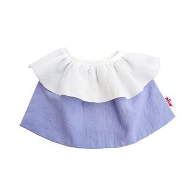 niva【日本製】やわらかダブルガーゼのフリル衿スタイ 出産祝い ギフトBOX入り よだれかけ ハーフバースデー ?
