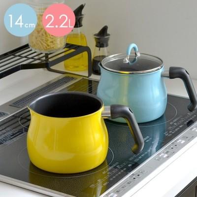 ToMayマルチポット 14cm 2.2リットル 1人用 2人用 Mサイズ マルチポット 1台7役 コンパクト 軽量 フッ素加工 洗いやすい IH対応 ガス火対応 かわいい 便利 p1