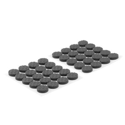 uxcell 家具フットパッド テーブル足 EVA 自己粘着 フロア保護 ブラック 15mm直径 40個入り