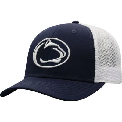 トップオブザワールド Top of the World メンズ キャップ トラッカーハット 帽子 Penn State Nittany Lions Blue/White Trucker Adjustable Hat