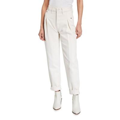 リダン レディース デニムパンツ ボトムス 40s Zoot Pleated Ankle Jeans
