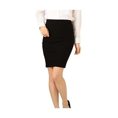Eiza ペンシル スカート タイト オフィス スーツ 用 e441 (ブラック XL)
