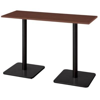ronna ロンナ テーブル 長方形 ベース脚タイプ ハイポジション マホガニー色天板 幅1500×奥行550×高さ10… NN-1505BHR-LM