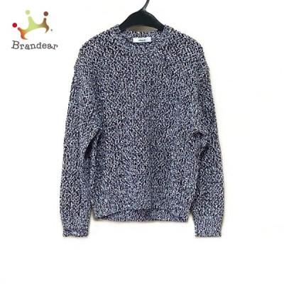 エブール ebure 長袖セーター レディース 美品 - 黒×白 新着 20210606