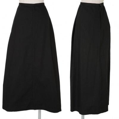 ワイズY's コットンAラインスカート 黒M 【レディース】