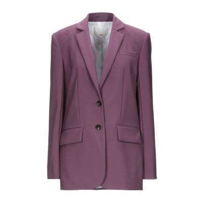 ティビ TIBI テーラードジャケット パープル 0 ポリエステル 53% / ウール 43% / ポリウレタン 4% テーラードジャケット
