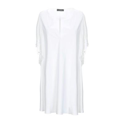 SOALLURE ミニワンピース&ドレス アイボリー 40 コットン 97% / ポリウレタン 3% ミニワンピース&ドレス