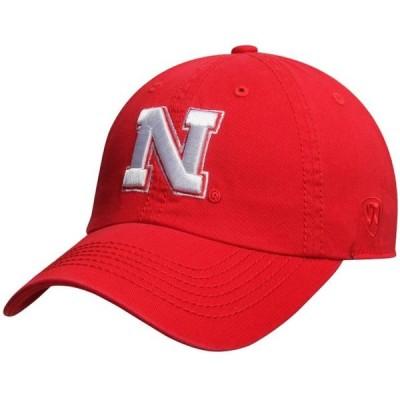 ユニセックス スポーツリーグ アメリカ大学スポーツ Nebraska Cornhuskers Top of the World Solid Crew Adjustable Hat - Scarlet - O