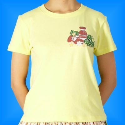 フラダンス Tシャツ M イプ・ウリウリ イエロー 514my