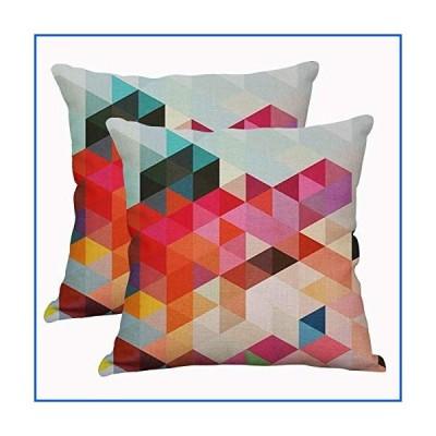 【新品】幾何学模様の装飾枕カバー 正方形 コットンリネン クッションカバー 屋外のソファ 家の枕カバ
