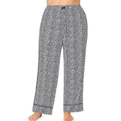 ケンジー レディース カジュアルパンツ ボトムス Plus Animal Print Jersey Knit Sleep Pants