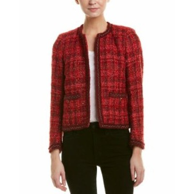 Blazer ブレザー ファッション 衣類 The Kooples Tweed Wool & Mohair-Blend Blazer 38 Red