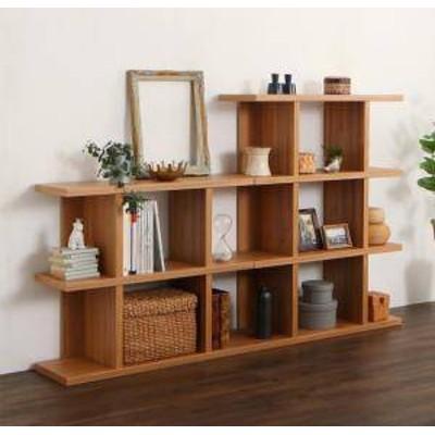 本棚 ディスプレイラック 棚 シェルフ オープンラック 収納 北欧 おしゃれ 木製 ラック ウッド 飾り棚 リビング ( 階段 幅180 ) 奥行30