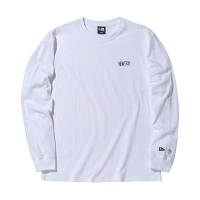 ニューエラ(NEW ERA) メンズ レディース 長袖 コットン Tシャツ AI TAKAHASHI 高橋愛 レギュラーフィットLSCT HRNE ホワイト 12674273 カジュアル ストリート