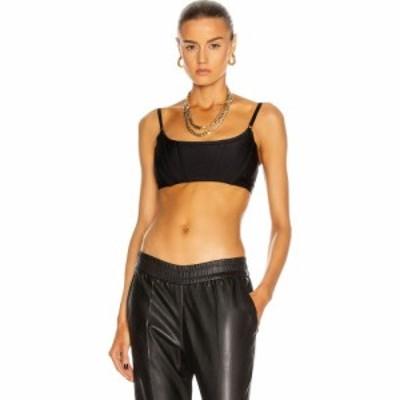 アレキサンダー ワン Alexander Wang レディース ベアトップ・チューブトップ・クロップド トップス cropped corset bra top Black