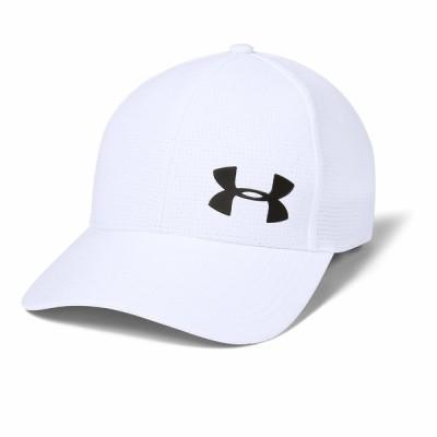 アンダーアーマー 帽子 アクセサリー メンズ AV Core Cap 2.0 White/Metallic Ore