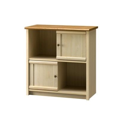 ストッカー キャビネット 棚 キッチン 大人 フレンチ  カウンター おしゃれ かわいい コンパクト 北欧 幅80cm 天板 ホワイト ミルフィー